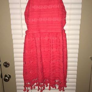Chelsea & Violet Dresses - Bnwt coral crochet dress